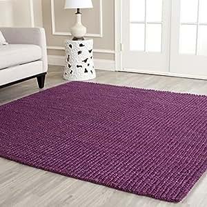 Safavieh isla bella alfombra de fibra natural p rpura 91 for Alfombras comedor amazon
