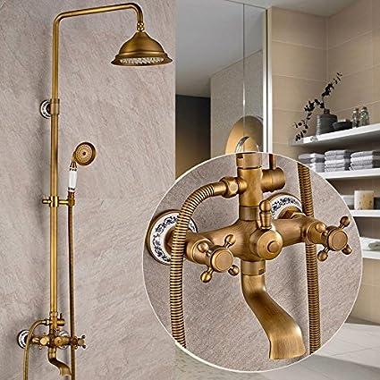 Antigua ronda Turbo lift cobre grifo de la ducha (baño, diez años de garantía