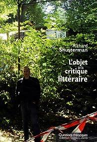 L'objet de la critique littéraire par Richard Shusterman