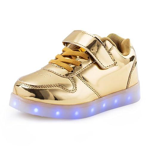 AFFINEST LED con Luci Sneakers Bright Light USB 7 Colori Bambino Scarpe  Lampeggiante Bambini Ragazzi Ragazze c3e5ca0ab6e