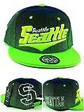 Seattle New Top Pro Youth Kids II Seahawks Colors Blue Green Era Snapback Hat Cap