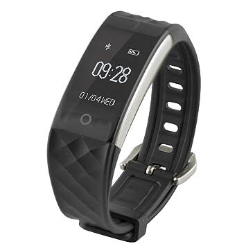 Ksix Fitness Band HR - Pulsera de Actividad con Monitor Deportivo y Bluetooth Compatible con Smartphone, Color Negro: Amazon.es: Electrónica