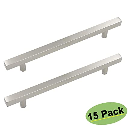 Charmant Brushed Nickel Kitchen Cabinet Handles Drawer Pulls   Homdiy HDJ22SN  7 1/2in(