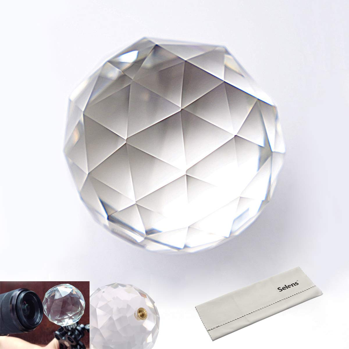 Meking Photo Photography Prism with Female 1/4 Inch, Professional Crystal Glass Ball Create Light Rainbow Effect for Camera Lens, for Photographer (60mm /2.4 Inch) by Meking
