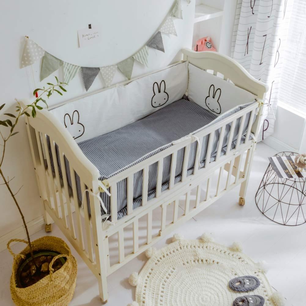 Xxn 赤ん坊のまぐさ桶のバンパーをコットン, バンパーのすべてのラウンド ユニセックス 無衝突赤ちゃんの寝具セット パッド入りのベッド バンパー ベッドレール2-B 110x60cm(43x24inch) 110x60cm(43x24inch) B B07KY8LX6Y