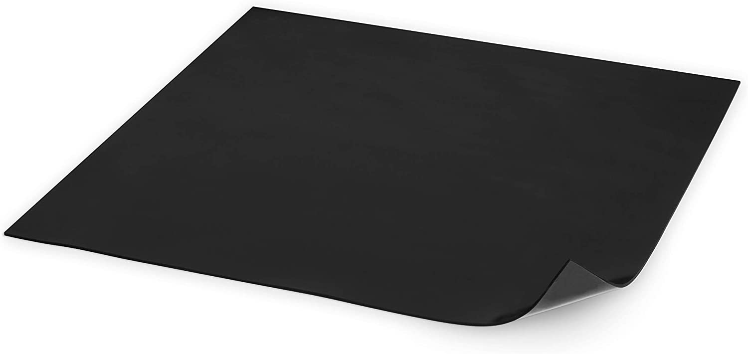 Silicone Rubber Sheet 12x12-inch by 1/8 Black Duro Shore A65/ High Temperature Heavy Duty for Gaskets DIY Material Supports Leveling Sealing Bumpers Protection Abrasion Covers