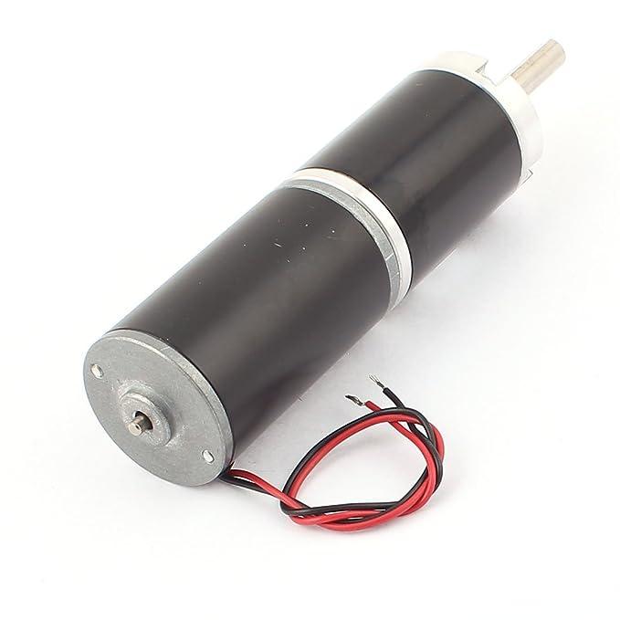 DC24V 20 rpm Diámetro 36 mm de alto par motor DC Caja de engranajes reductor de velocidad - - Amazon.com