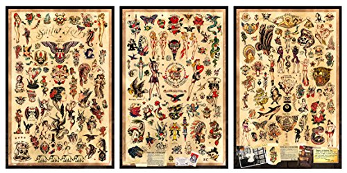 3 - Sailor Jerry Tattoo Flash Posters 12