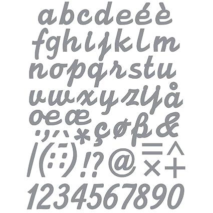 Rayher Scritta Adesiva A Z Argento 10x23cm Lettere Minuscole