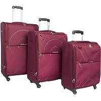 كاميلينت حقائب سفر بعجلات 3 قطع , احمر , FE500004-MAROON