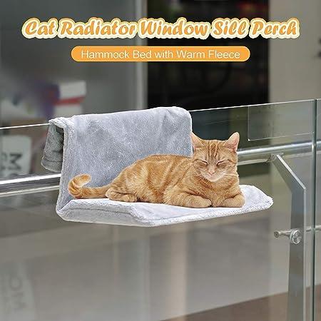 Weehey Cama de radiador de Gato Alféizar de Ventana de Gato Percha Hamaca Cama de vellón cálido Asiento de salón para Gato Cachorro Gatito Perro Mascota: Amazon.es: Hogar