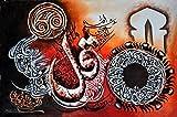 Islamic Wall Art Canvas Home Decor Hand Painted Oil On Canvas Individual Islamic Calligraphy - Surah Al-Ikhlas & Surah-e-Kafiron - Unframed