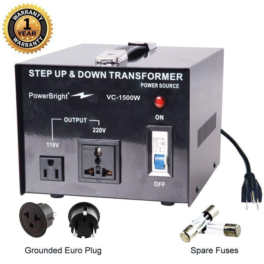 Amazon.com: Transformador de potencia de voltaje de 100 ...