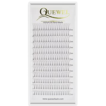 Russian Volume Premade Fans Eyelashes Extension 3 D Thickness 0.07/0.10 Curl C/D Length 8 18mm By Quewel (3 D 0.10 D, 13mm) by Quewel