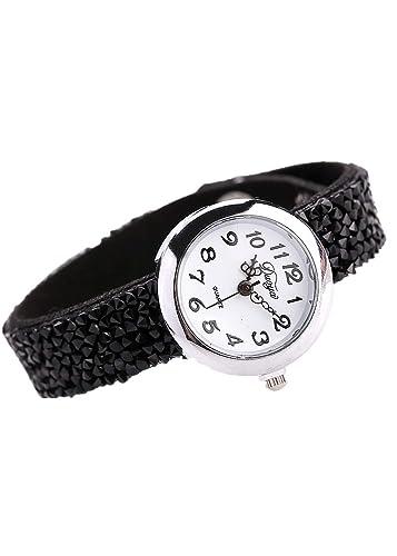 Hot Sal.firally Reloj de Pulsera para Mujer de Piel de Lujo de de Negocios con Brillantes wristwatches Relojes de Pulsera Relojes de Mujer Negro: Amazon.es: ...