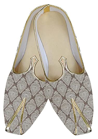 Mens Cream Brocade Wedding Shoes Classic MJ0035