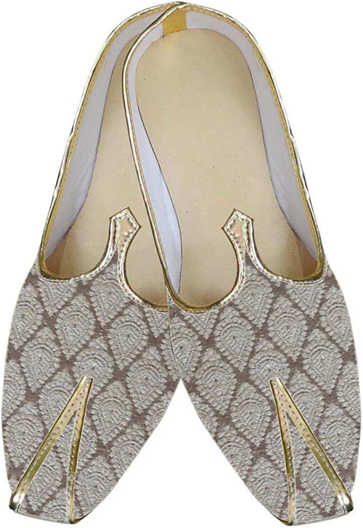 INMONARCH Traditional/Shoes for Men Cream Wedding Shoes Classic Indian Shoes MJ0035