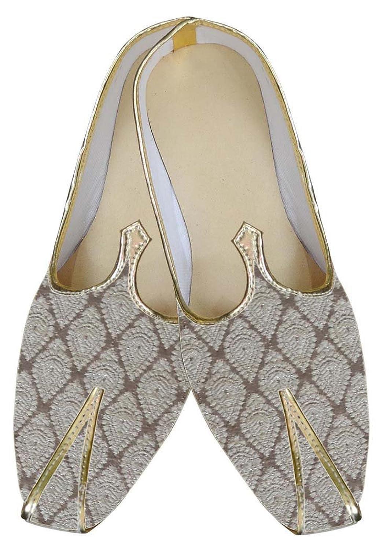INMONARCH Crema Hombres Clásico Zapatos de Boda MJ0035 45 EU