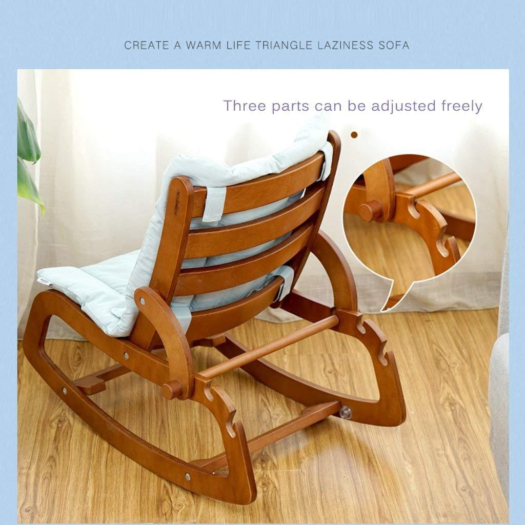 5725b1306 Infantil Sillas mecedoras Sillón reclinable informal de madera maciza para  bebés multifuncional Silla mecedora para bebés recién nacidos Silla mecedora  ...