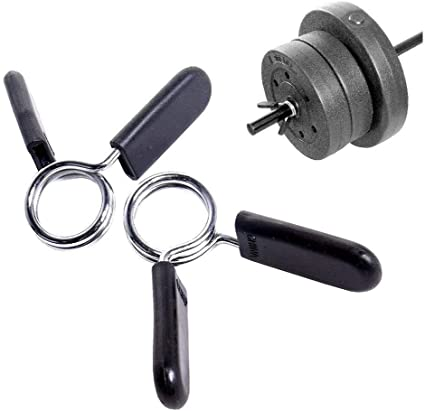 1 Pair Gym Weight Bar Collars Barbell Dumbell Fitness Gym Locking Spring Clamps
