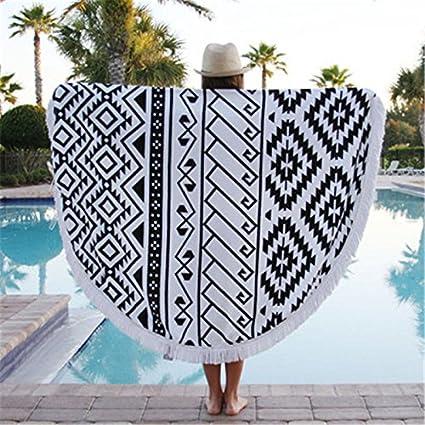 Toalla de playa Redondo impresión Ultra Círculo con borlas de toallas suaves toallas de playa ,