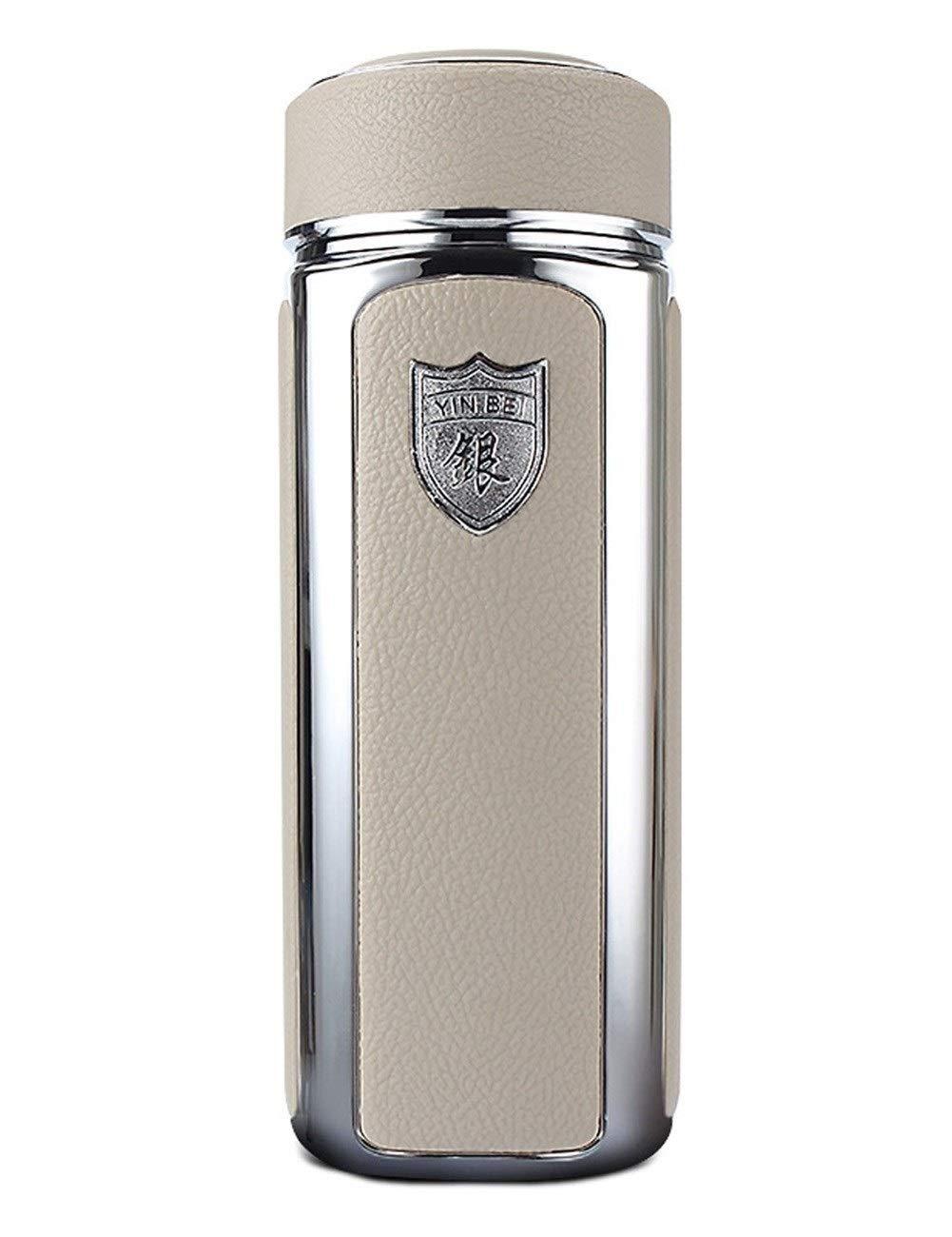 コーヒー魔法瓶少年と少女 スターリングシルバーのコーヒー魔法瓶、安全で健康的なコーヒー魔法瓶、長時間熱くて冷たく保つ、再利用可能なビジネスカップ、ビジネス、オフィス、学校、宴会350ML コーヒー、ワイン (Color : 銀) 銀