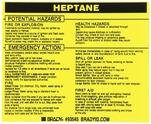 Brady 93545, Hazardous Material Label:Dot 5800.4-1987, 3 3/4