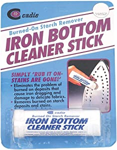 Steam Iron Bottom Cleaner Stick – Removes Build-Up Starch, Melted Fabric, Glue from Hot Iron – Eliminates Sticky Residue On Any Iron Soleplate on The Market - Easy to Use – 3 Pack