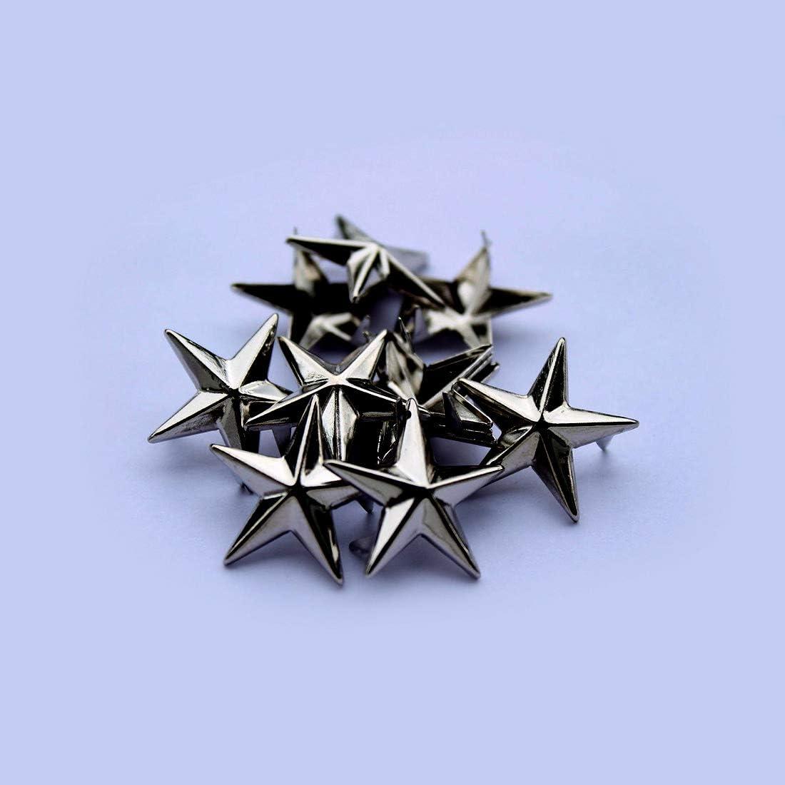 Nero Scrapbooking Nailhead Punk Decorativo Pressione a Mano Spuntoni per Fai da Te Goth /& Accessori alla Moda 10mm Trimming Shop Star Borchie Artiglio Rivetti