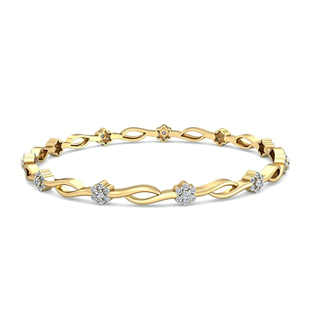 PC Jeweller The Meaghan 18KT Yellow Gold & Diamond Bangle Bangles & Bracelets at amazon