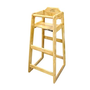 Beau Winco CHH 601 Wooden 19 X 20 X 41u0026quot; Pub Height High Chair