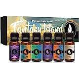 Fantasy Island - Gift Set of 6 Premium Fragrance Oils - Freesia, Dark Amethyst, Blue Sage, End of The Rainbow, White…