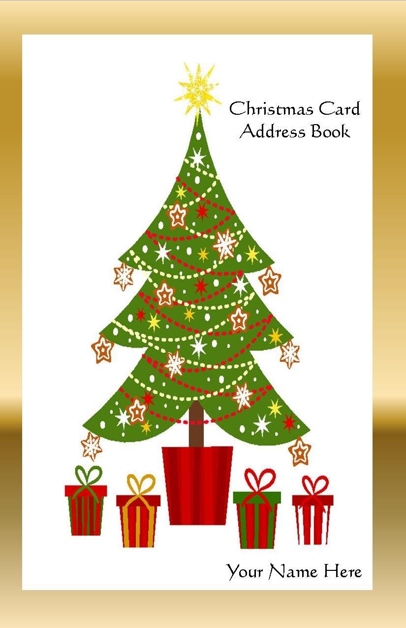 Amazon.com : Christmas Card Address Book List Organizer with A-Z ...