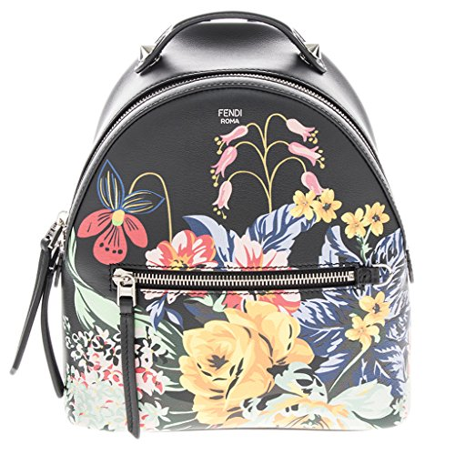 Fendi-Womens-Mini-Printed-Backpack-Black-Multicolor
