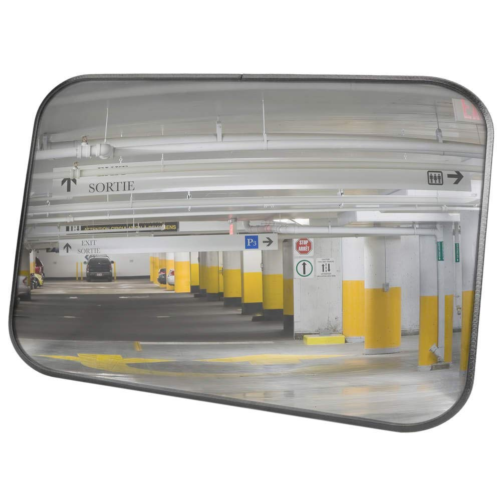PrimeMatik - Convex safety mirror for security signaling rectangular 60x40 cm PrimeMatik.com