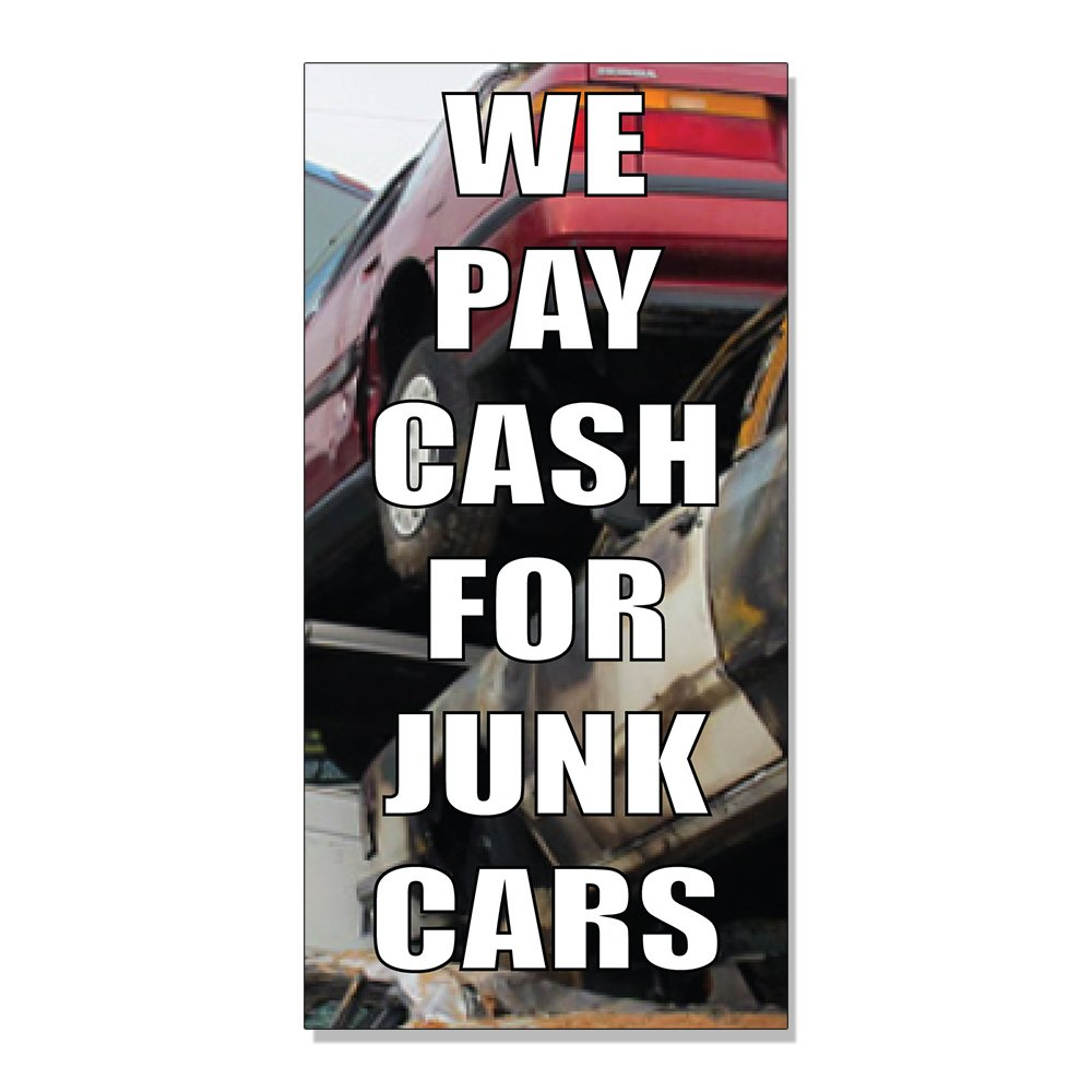 Amazon.com : We Pay Cash For Junk Cars With Image Style 3 DECAL ...
