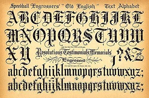 Amazon.com: Speedball Pen - Old English Text Alphabet - 1957 ...