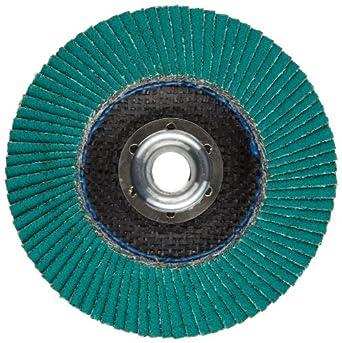 "3M Flap Disc 577F, T27, Alumina Zirconia, Dry/Wet, 4-1/2"" Diameter, 40 Grit, 5/8""-11 Thread Size (Pack of 1)"