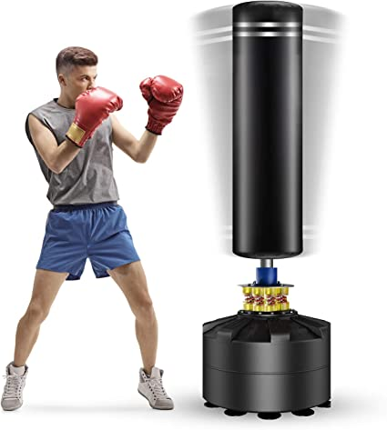 Freestanding Punching Bag 69-182lb Heavy Boxing Bag with Suction Cup Base Heavy Bag for Adult Youth Men Stand Kickboxing Bags Kick Punch Bag