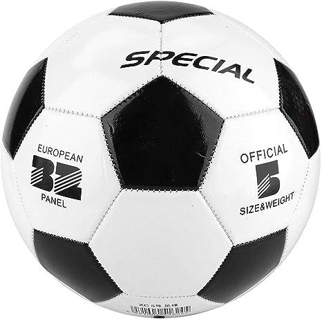 Huairdum Balón de fútbol, balones de fútbol Tamaño 5 Negro ...