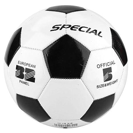 Huairdum Balón de fútbol, balones de fútbol Tamaño 5 Negro Blanco ...