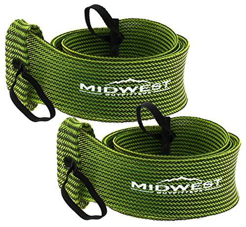 - Spinning Fishing Rod Sleeve Rod Sock Cover 2 Pack By Midwest Outfitters (Black/Green)