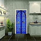 3d Door Wallpaper, vmree Waterproof Removable Mural Poster Scene Window Door Stickers Arts Decals Wall Stickers Decor (B)