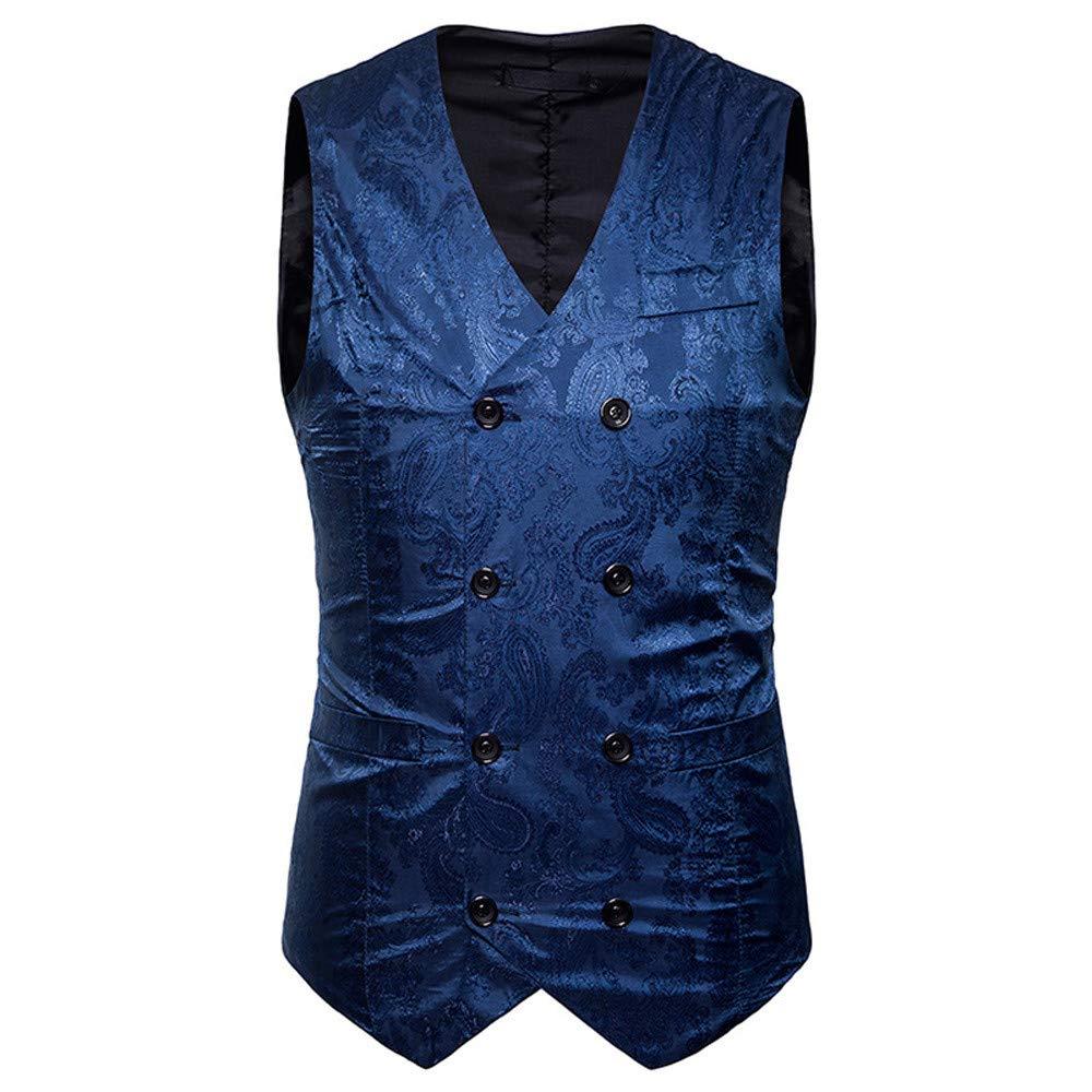 b3bcacf943269 MODOQO Mens Suit Vest Double Breasted Slim Fit Retro Tuxedo Dress Waistcoat  MODOQO-Men  s waistcoat-1004 Men