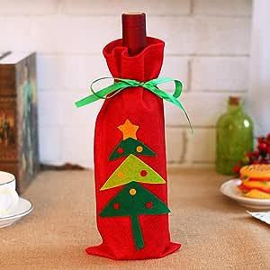 Navidad Navidad Papá Noel Árbol De Navidad Tapa De La Botella De Vino Decoraciones Navideñas Para El Hogar Mediador De Muñecos De Nieve Titulares De Regalos Decoración De Año Nuevo @ Christmas_Tree: