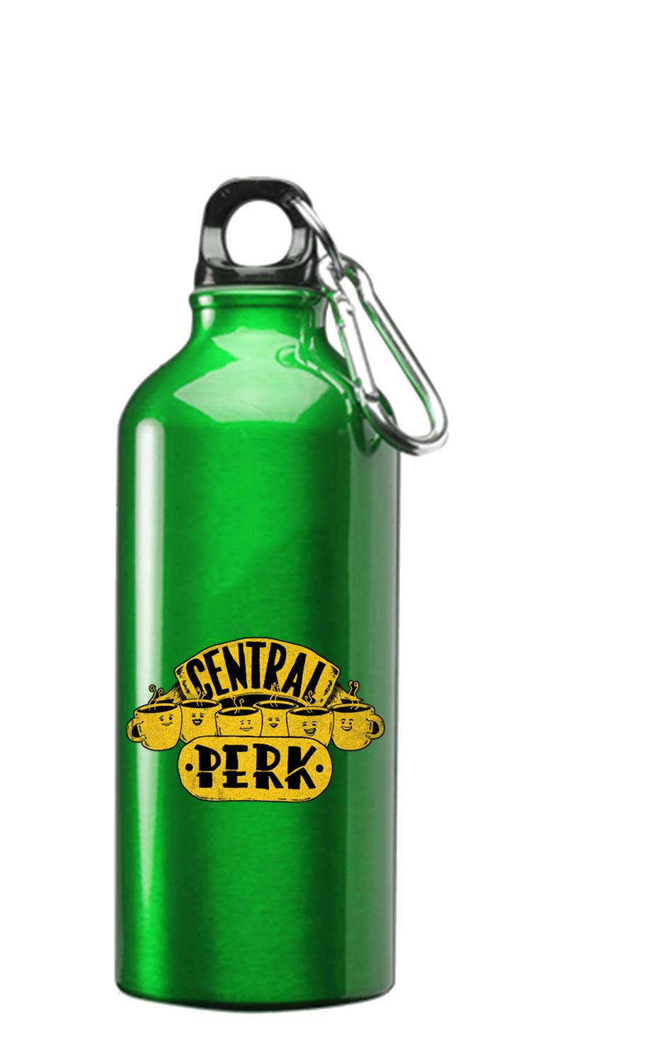 Parody Design 3D Color Printed 17 oz Stainless Steel Water Bottle Green Hat Shark Central Perk