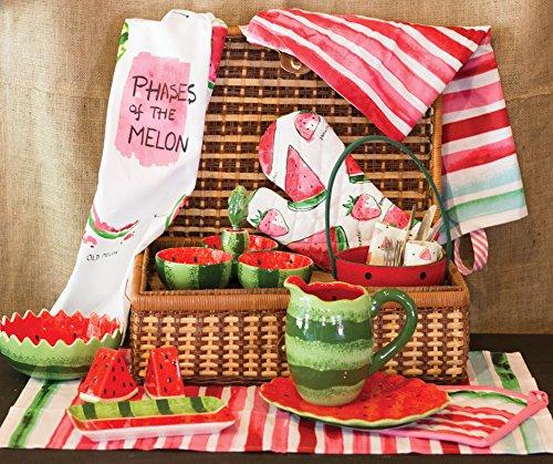 Boston International Ceramic Tri Dish and Spreader, Watermelon by Celebrate the Home (Image #2)