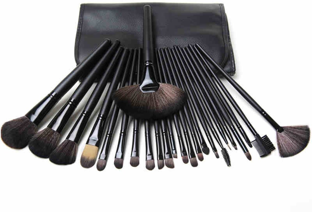 E-beauty Makeup Brushes 24 Piece Set - Cosmetic Tool -Foundation Brush Tool Kit with Black Organization Bag