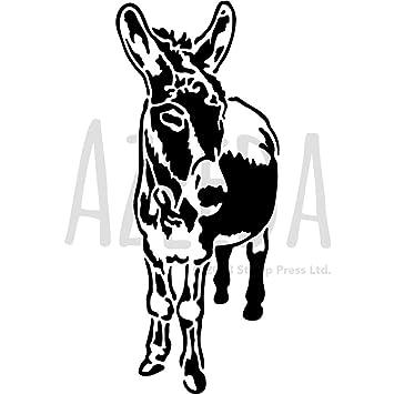 amazon a4 friendly donkey ウォールステンシル テンプレート