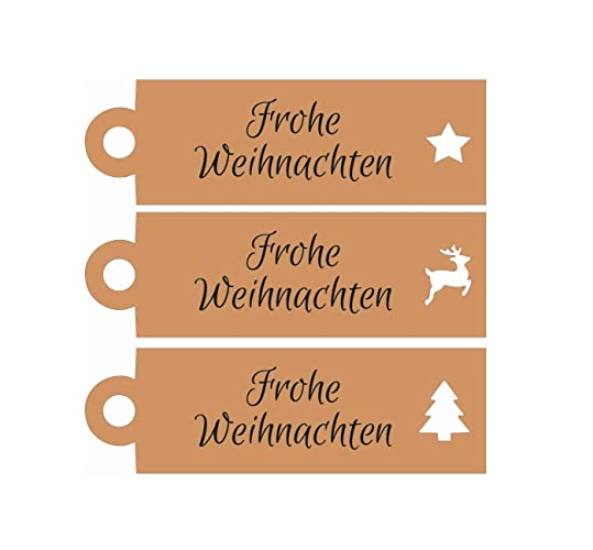 Etiketten Frohe Weihnachten.25 Geschenkanhänger Frohe Weihnachten Tags Etiketten Gift Tags